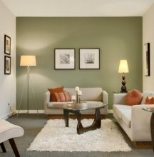 Painting accent walls to change the shape of a room