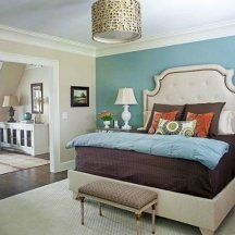 Accent walls shouldn't compete with existing focal points