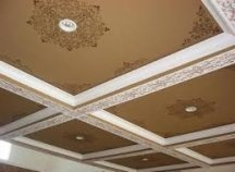 Some decorative painting techniques make high ceilings look closer