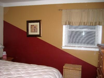 Painting Idea: Two-Color Diagonal Statement Wall