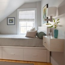 Small rooms need a blended color scheme