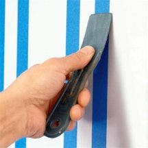 Seal the working tape edge for sharper paint lines