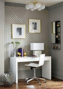 Wall pinstripes look chic on a small area
