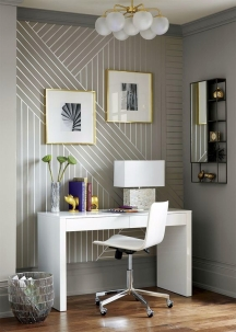 Painting stripes on walls: same color - different sheen