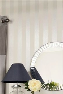 Wall stripes painted in different sheens are very elegant