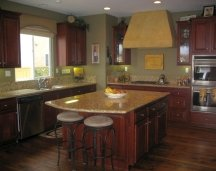 muddy greens are popular kitchen colors
