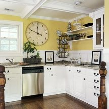yellows and golds are very popular kitchen colors