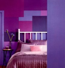 Shades of purple paint color are very versatile for using in a home
