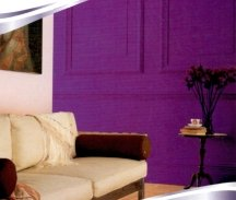 Bold shades of purple paint are very stimulating, like red