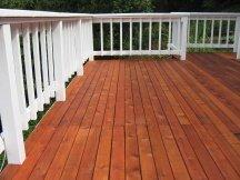 Pigmented sealer on a deck floor