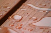 Waterproof coating on wood