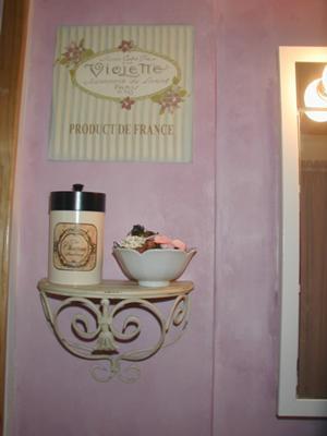 My French-inspired shabby chic bathroom