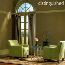 Window trim can be painted green to blend with the outside foliage