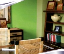 Bold shades of green are best used for painting accent walls