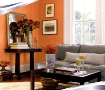 Some shades of orange can be used for painting an entire room without overwhelming it