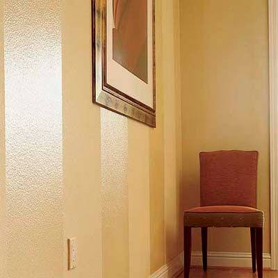 Painting Tone On Tone Wall Stripes: Glossy and Matte Sheen Variation