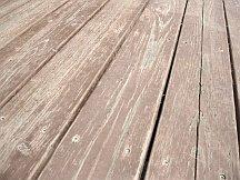 Paint stuck in wood fibers