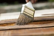 Brushing on penetrating stain
