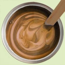 Stir paint thoroughly after storing to recombine the ingredients