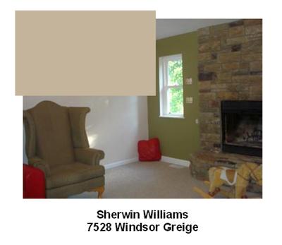 SW7528 Windsor Greige paint color