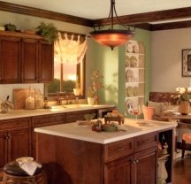 Tuscan paint colors are very popular in kitchens