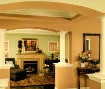 Tuscan paint colors are rich, warm, somber shades like sage green and terra cotta