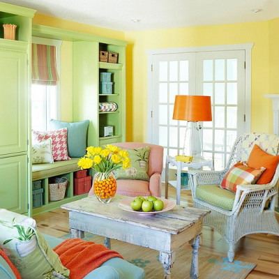 Example of clean paint and decor colors
