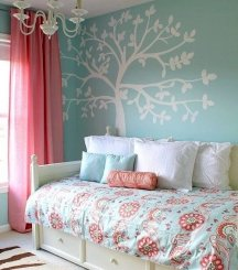 Stencils make beautiful accent wall designs