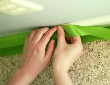 Protect and cover non-working surfaces before painting