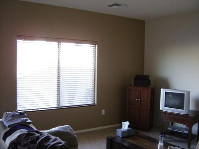 Brown accent wall